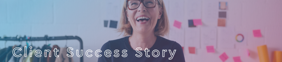 Client success story graphic